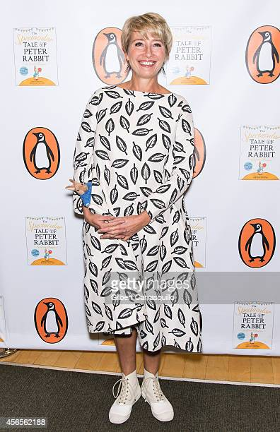 Actress Emma Thompson signs copies of 'The Spectacular Tale Of Peter Rabbit'at Barnes Noble Tribeca on October 2 2014 in New York City