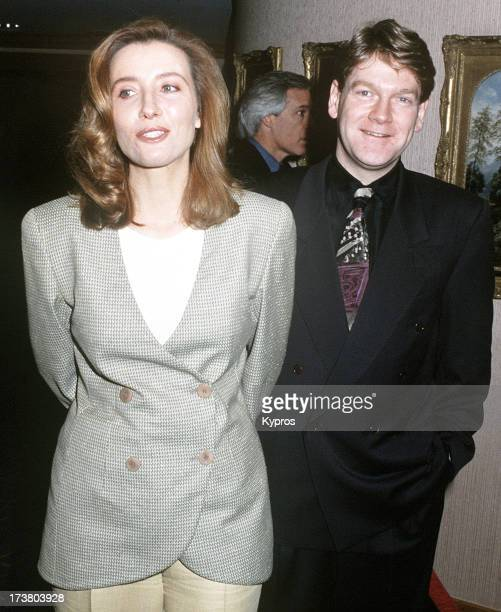 Actress Emma Thompson with her husband actor and director Kenneth Branagh circa 1993