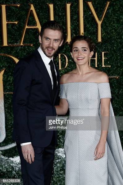 Actress Emma Watson and actor Dan Stevens attend UK launch event for 'Beauty And The Beast' at Spencer House on February 23 2017 in London England