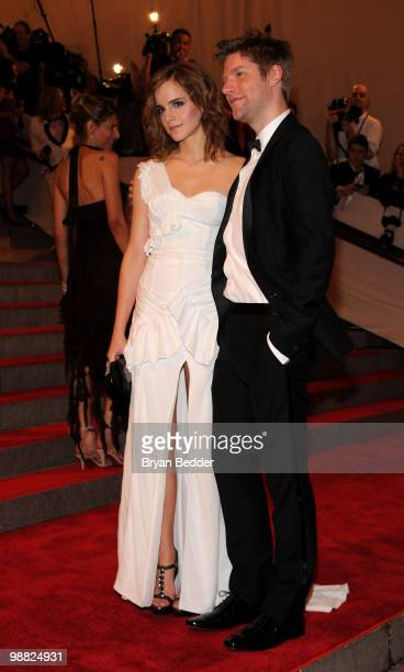 Actress Emma Watson and Burberry Chief Creative Officer Christopher Bailey attend the Metropolitan Museum of Art's 2010 Costume Institute Ball at The...