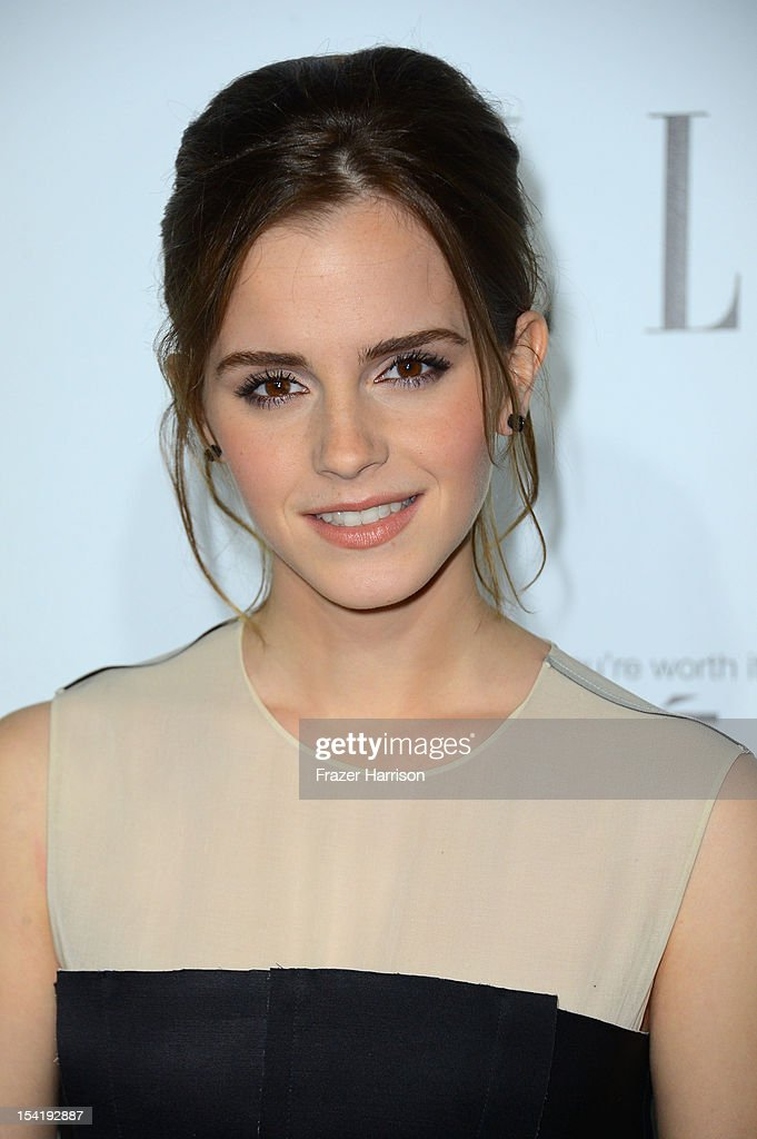 Actress Emma Watson arrives at ELLE's 19th Annual Women In Hollywood Celebration at the Four Seasons Hotel on October 15, 2012 in Beverly Hills, California.