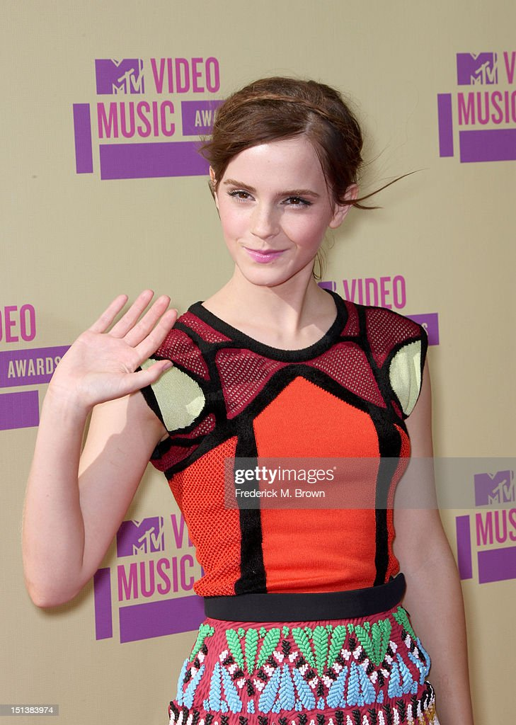 Actress Emma Watson arrives at the 2012 MTV Video Music Awards at Staples Center on September 6, 2012 in Los Angeles, California.