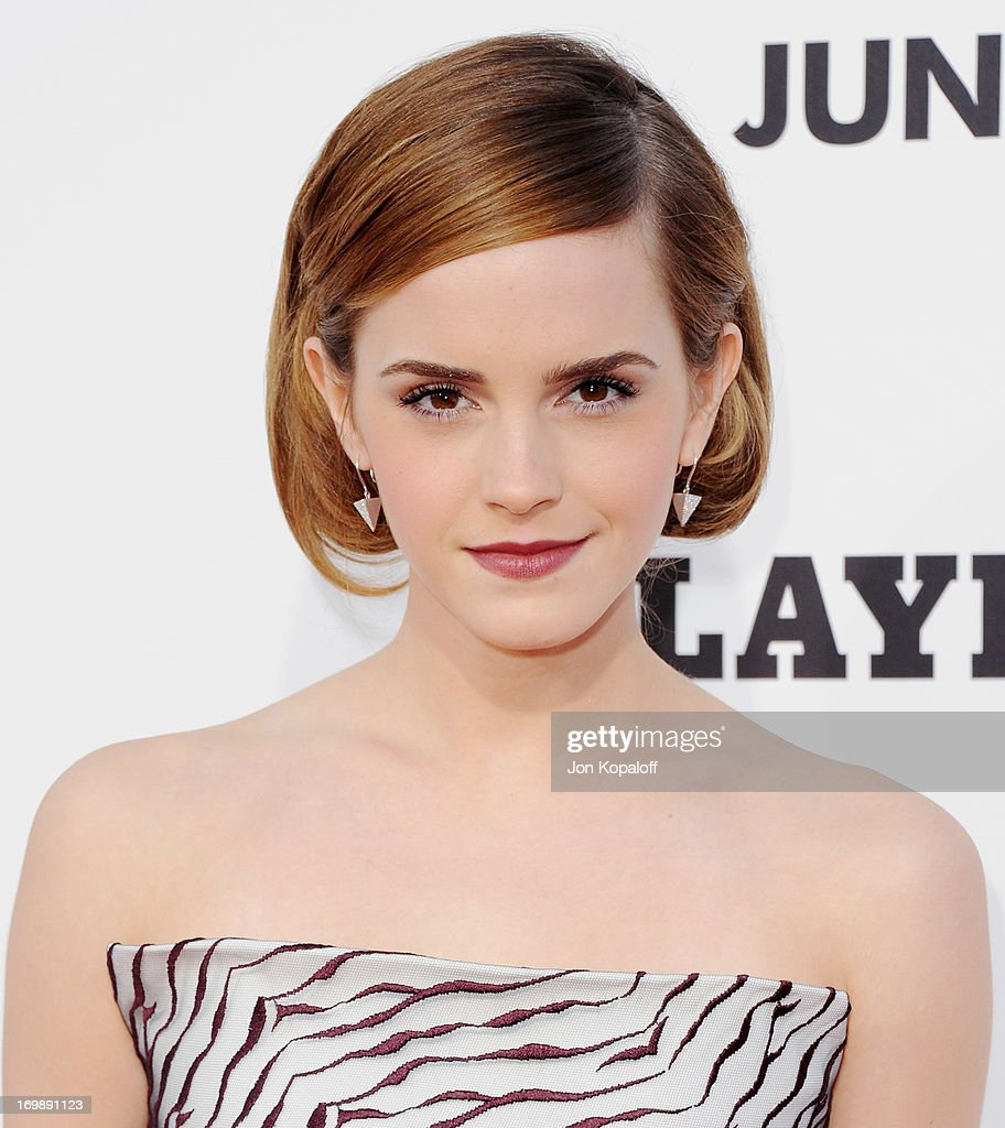 Actress Emma Watson arrives at the Los Angeles Premiere 'This Is The End' at Regency Village Theatre on June 3 2013 in Westwood California