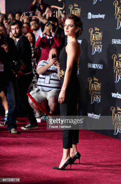 Actress emma Watson attends Disney's 'Beauty and the Beast' premiere at El Capitan Theatre on March 2 2017 in Los Angeles California