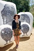 Actress Emma Watson attends Mulberry BBQ Pool Party at Coachella at the Parker Palm Springs on April 14 2012 in Palm Springs California