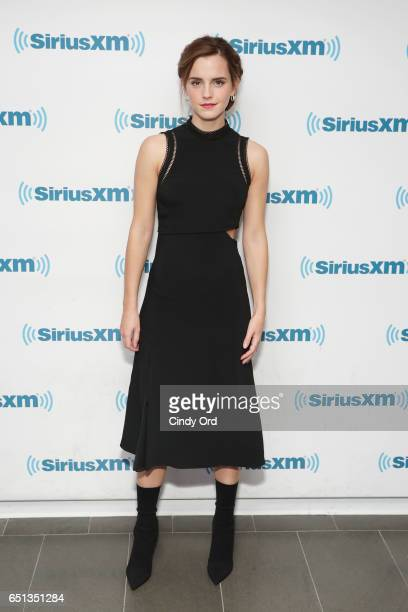 Actress Emma Watson attends SiriusXM's 'Town Hall' with Emma Watson 'Town Hall' to air on Entertainment Weekly Radio on March 10 2017 in New York City