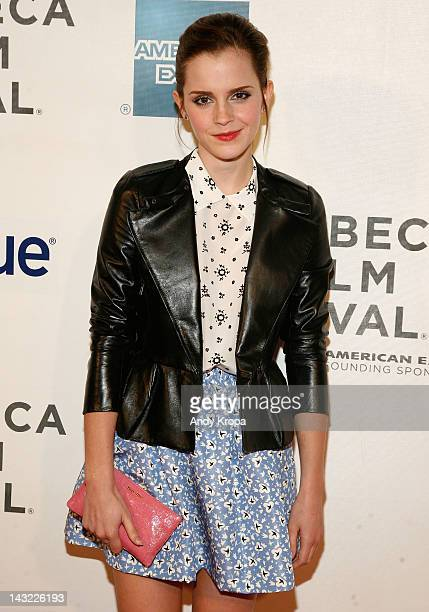 Actress Emma Watson attends 'Struck By Lightning' Premiere during the 2012 Tribeca Film Festival at the Borough of Manhattan Community College on...