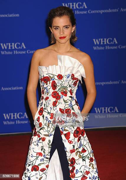 Actress Emma Watson attends the 102nd White House Correspondents' Association Dinner on April 30 2016 in Washington DC