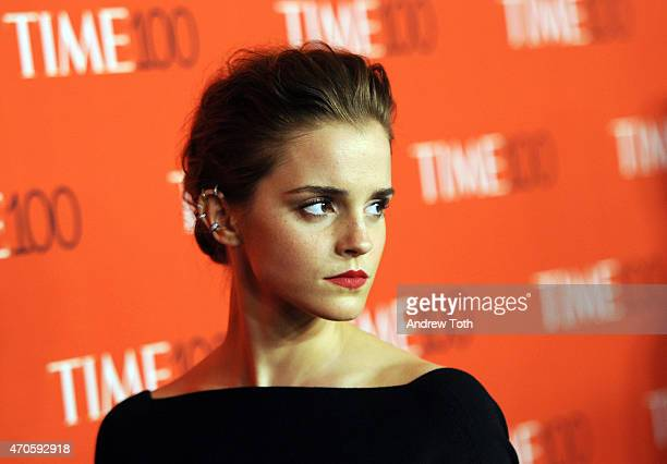Actress Emma Watson attends the 2015 Time 100 Gala at Frederick P Rose Hall Jazz at Lincoln Center on April 21 2015 in New York City