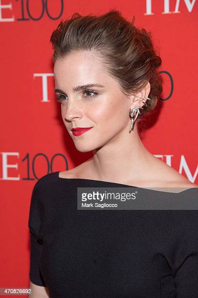 Actress Emma Watson attends the 2015 Time 100 Gala at Frederick P Rose Jazz Hall at Lincoln Center on April 21 2015 in New York City