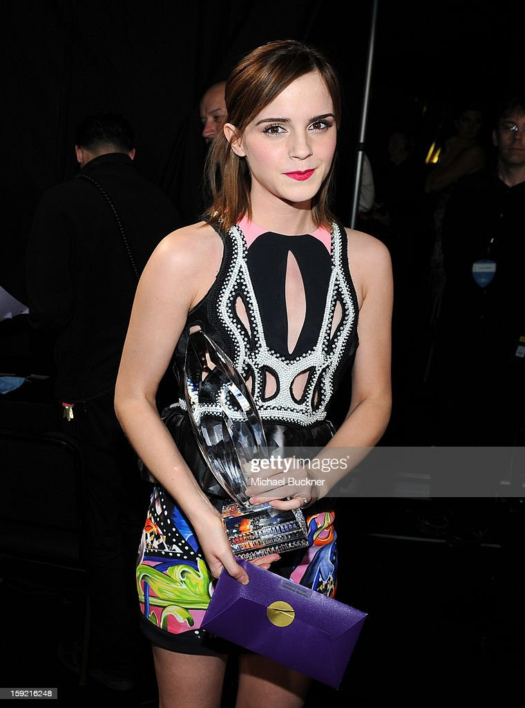 Actress Emma Watson attends the 39th Annual People's Choice Awards at Nokia Theatre L.A. Live on January 9, 2013 in Los Angeles, California.