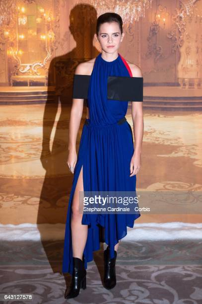 Actress Emma Watson attends the 'Beast And Beauty La Belle Et La Bete' Paris Photocall at Hotel Meurice on February 20 2017 in Paris France