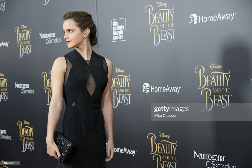 Actress Emma Watson attends the 'Beauty And The Beast' New York Screening at Alice Tully Hall at Lincoln Center on March 13, 2017 in New York City.