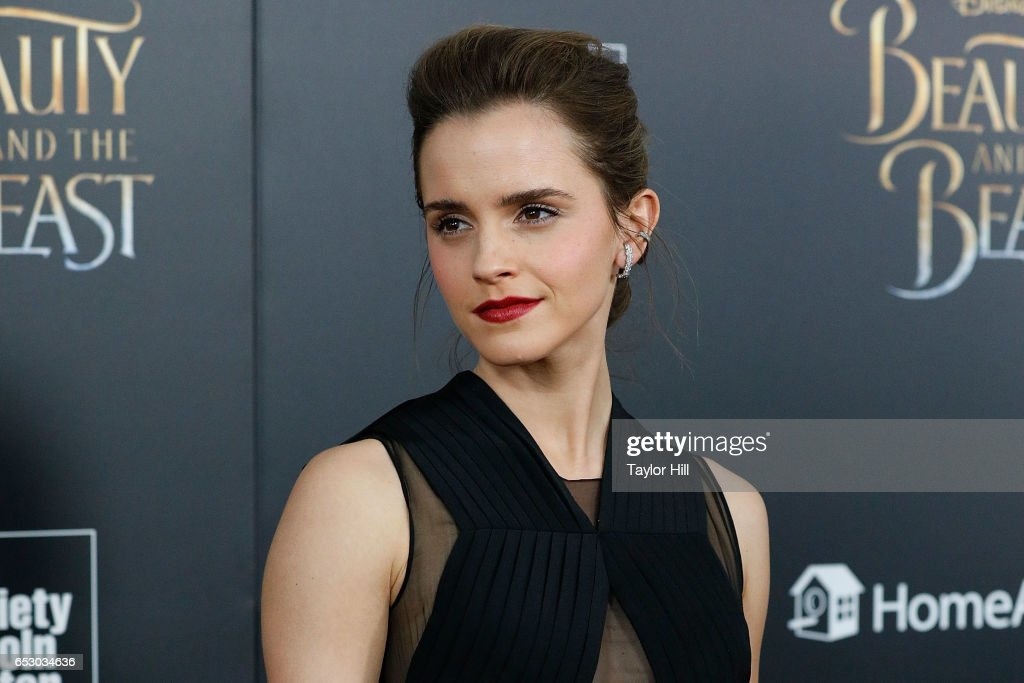 Actress Emma Watson attends the 'Beauty and the Beast' New York screening at Alice Tully Hall, Lincoln Center on March 13, 2017 in New York City.