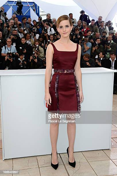 Actress Emma Watson attends 'The Bling Ring' photocall during the 66th Annual Cannes Film Festival at Palais des Festival on May 16 2013 in Cannes...
