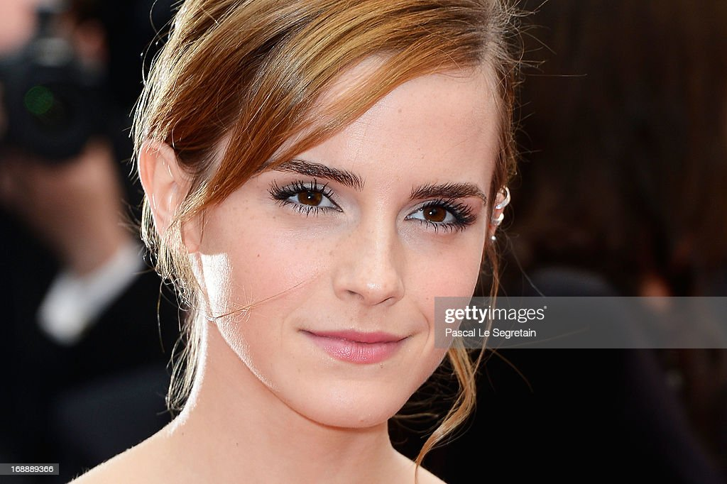 Actress <a gi-track='captionPersonalityLinkClicked' href=/galleries/search?phrase=Emma+Watson&family=editorial&specificpeople=171373 ng-click='$event.stopPropagation()'>Emma Watson</a> attends 'The Bling Ring' premiere during The 66th Annual Cannes Film Festival at the Palais des Festivals on May 16, 2013 in Cannes, France.