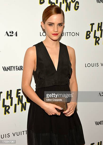 Actress Emma Watson attends 'The Bling Ring' screening at Paris Theatre on June 11 2013 in New York City