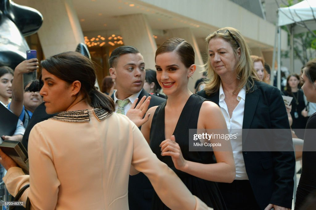 Actress <a gi-track='captionPersonalityLinkClicked' href=/galleries/search?phrase=Emma+Watson&family=editorial&specificpeople=171373 ng-click='$event.stopPropagation()'>Emma Watson</a> attends 'The Bling Ring' screening at Paris Theatre on June 11, 2013 in New York City.
