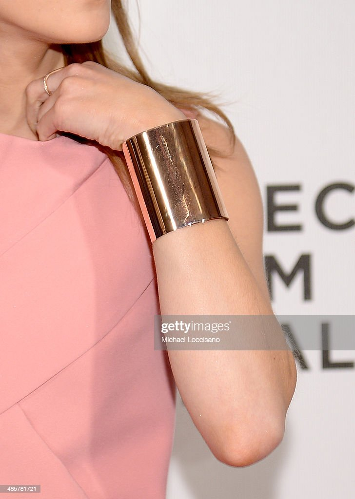 Actress Emma Watson (accessory detail) attends the 'Boulevard' Premiere during the 2014 Tribeca Film Festival at BMCC Tribeca PAC on April 20, 2014 in New York City.