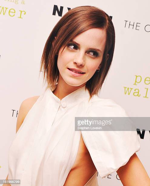 Actress Emma Watson attends The Cinema Society special screening of 'The Perks Of Being A Wall Flower' on September 13 2012 in New York City