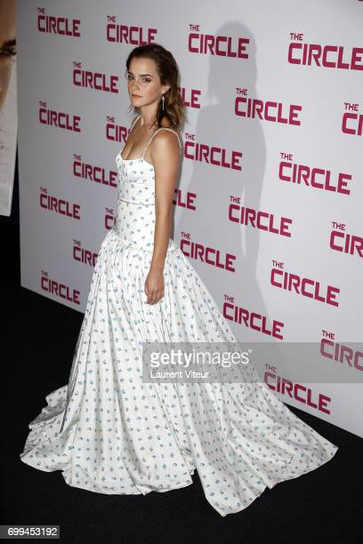 Actress Emma Watson attends 'The Circle' Paris Premiere at Cinema UGC Normandie on June 21 2017 in Paris France