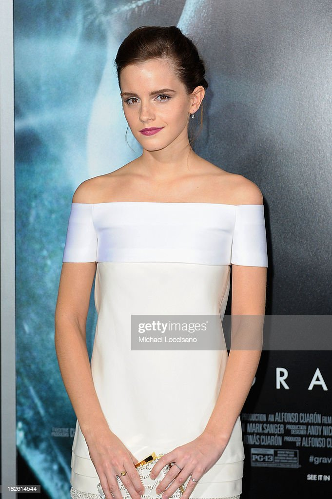 Actress Emma Watson attends the 'Gravity' premiere at AMC Lincoln Square Theater on October 1, 2013 in New York City.
