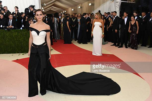 Actress Emma Watson attends the 'Manus x Machina Fashion In An Age Of Technology' Costume Institute Gala at Metropolitan Museum of Art on May 2 2016...