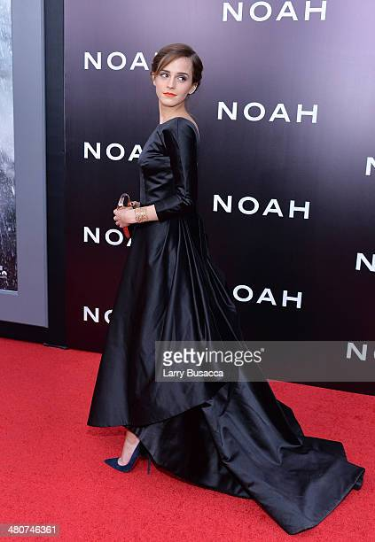Actress Emma Watson attends the New York premiere of Paramount Pictures' 'Noah' at the Ziegfeld Theatre on March 26 2014 in New York City