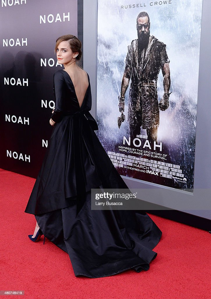 Actress Emma Watson attends the New York premiere of Paramount Pictures' 'Noah' at the Ziegfeld Theatre on March 26, 2014 in New York City.