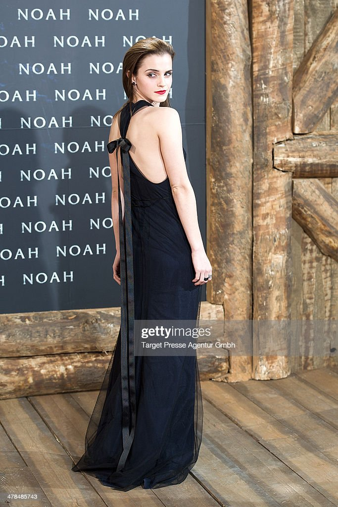 Actress <a gi-track='captionPersonalityLinkClicked' href=/galleries/search?phrase=Emma+Watson&family=editorial&specificpeople=171373 ng-click='$event.stopPropagation()'>Emma Watson</a> attends the 'Noah' Germany Premiere at Zoo Palast on March 13, 2014 in Berlin, Germany.