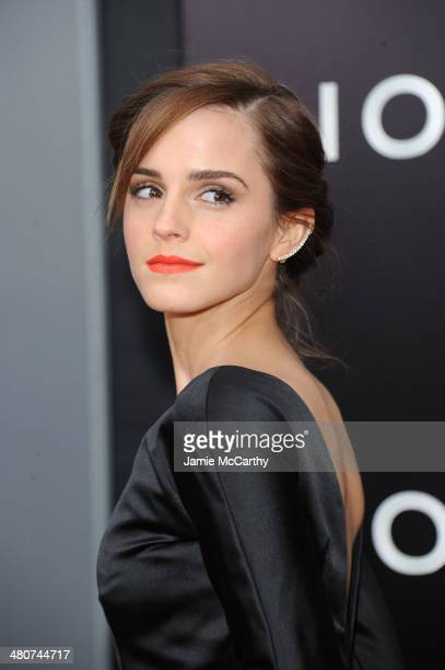 Actress Emma Watson attends the 'Noah' New York premiere at Ziegfeld Theatre on March 26 2014 in New York City
