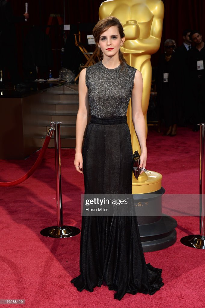 Actress Emma Watson attends the Oscars held at Hollywood Highland Center on March 2 2014 in Hollywood California