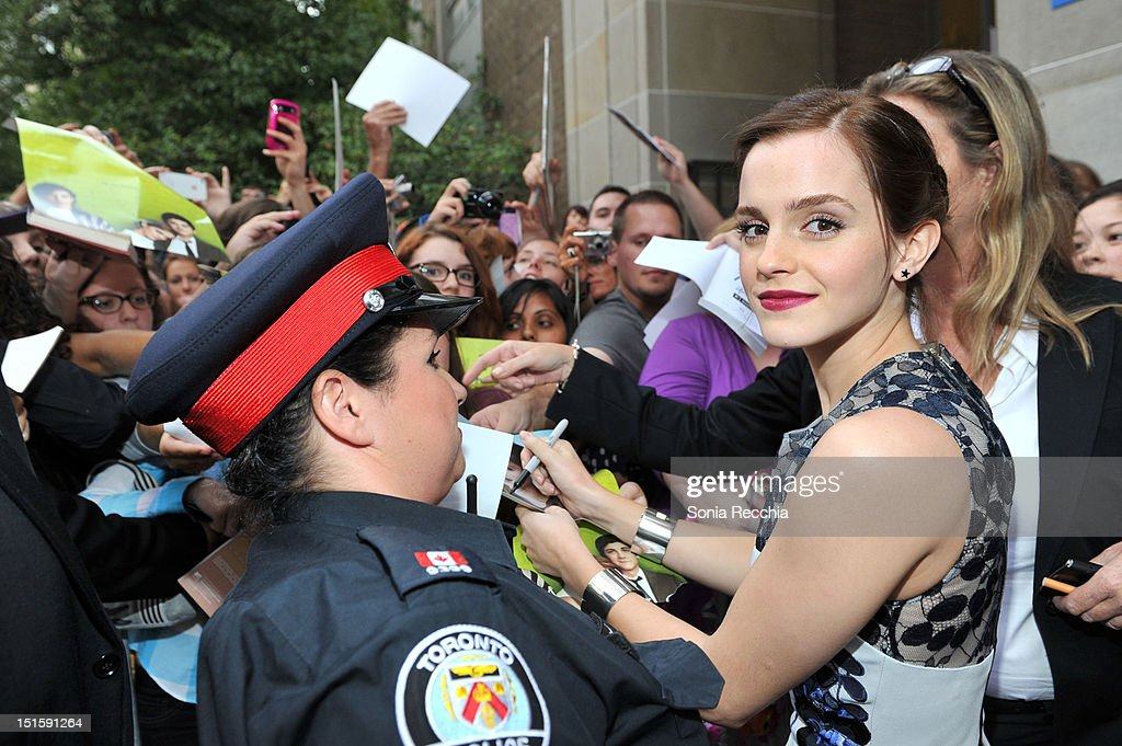Actress Emma Watson attends 'The Perks Of Being A Wallflower' premiere during the 2012 Toronto International Film Festival at Ryerson Theatre on September 8, 2012 in Toronto, Canada.