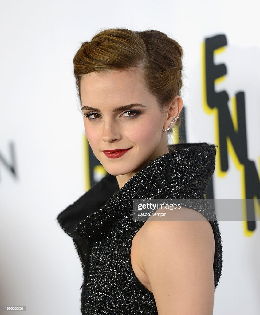 Actress <a gi-track='captionPersonalityLinkClicked' href=/galleries/search?phrase=Emma+Watson&family=editorial&specificpeople=171373 ng-click='$event.stopPropagation()'>Emma Watson</a> attends the premiere of A24's 'The Bling Ring' at Directors Guild Of America on June 4, 2013 in Los Angeles, California.