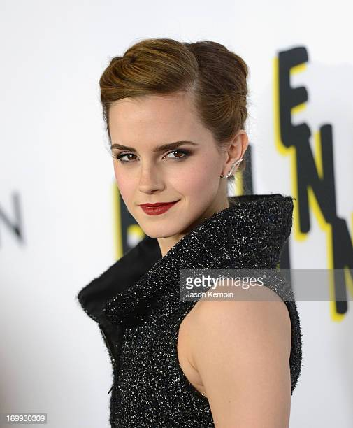 Actress Emma Watson attends the premiere of A24's 'The Bling Ring' at Directors Guild Of America on June 4 2013 in Los Angeles California