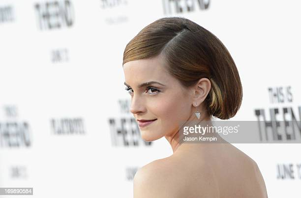Actress Emma Watson attends the premiere of Columbia Pictures' 'This Is The End' at the Regency Village Theatre on June 3 2013 in Westwood California