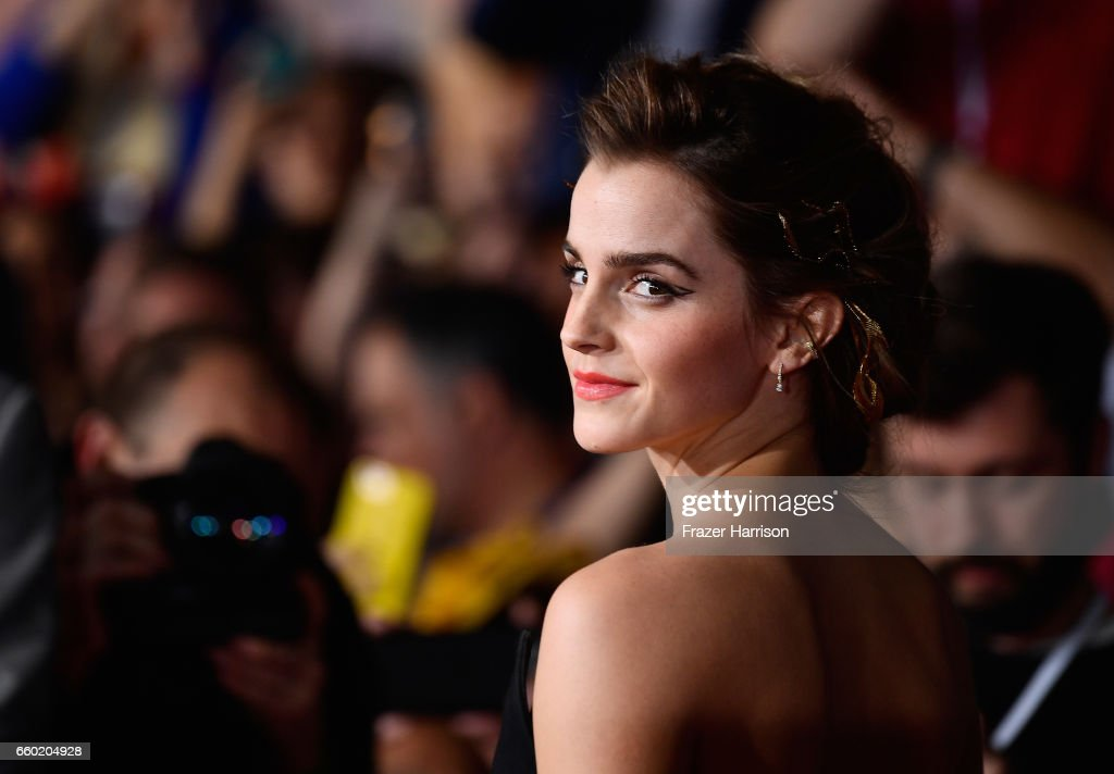 Actress Emma watson attends the Premiere Of Disney's 'Beauty And The Beast' at El Capitan Theatre on March 2, 2017 in Los Angeles, California.