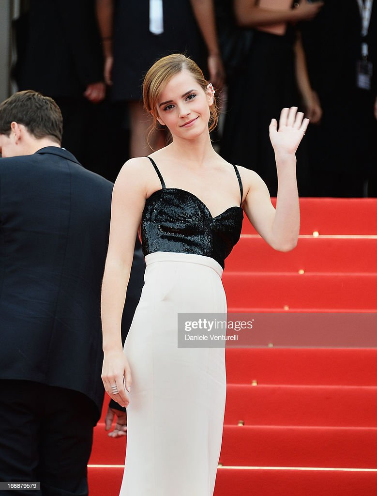 Actress Emma Watson attends the Premiere of 'The Bling Ring' at The 66th Annual Cannes Film Festival at Palais des Festivals on May 16, 2013 in Cannes, France.