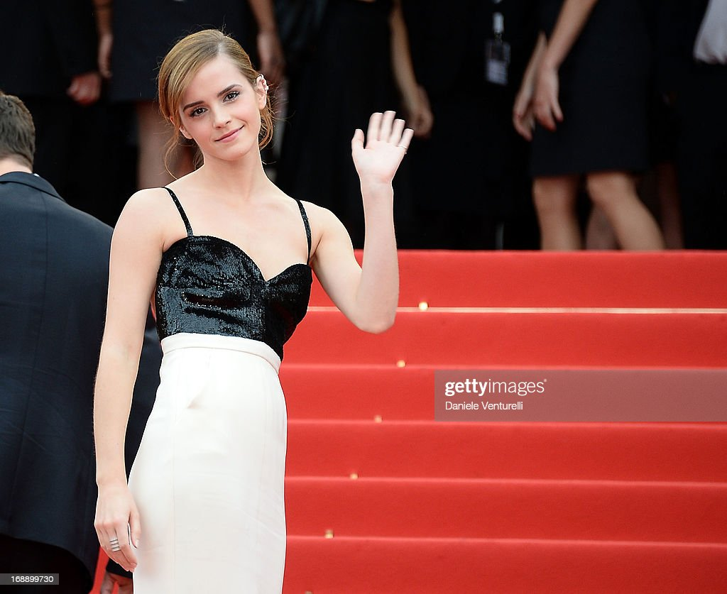 Actress <a gi-track='captionPersonalityLinkClicked' href=/galleries/search?phrase=Emma+Watson&family=editorial&specificpeople=171373 ng-click='$event.stopPropagation()'>Emma Watson</a> attends the Premiere of 'The Bling Ring' at The 66th Annual Cannes Film Festival at Palais des Festivals on May 16, 2013 in Cannes, France.