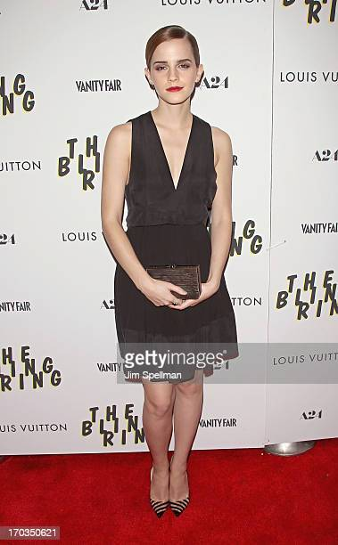 Actress Emma Watson attends the 'The Bling Ring' New York Screening at the Paris Theatre on June 11 2013 in New York City