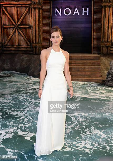 Actress Emma Watson attends the UK Premiere of 'Noah' at the Odeon Leicester Square on March 31 2014 in London England