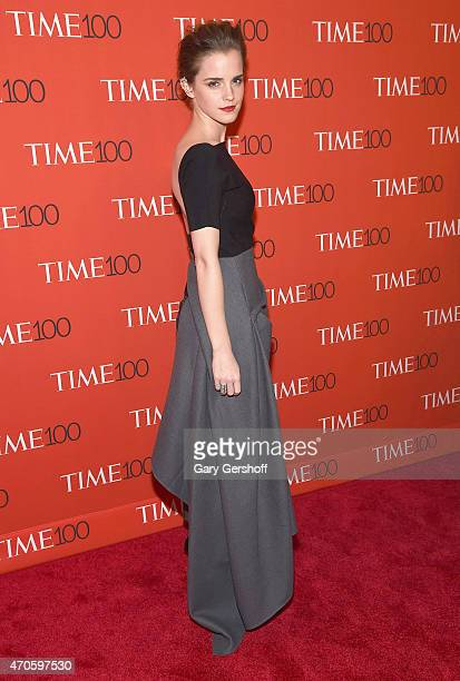 Actress Emma Watson attends TIME 100 Gala TIME's 100 Most Influential People In The World at Frederick P Rose Hall Jazz at Lincoln Center on April 21...