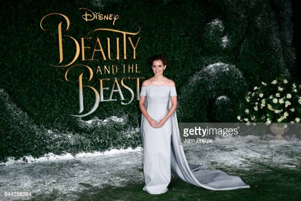 Actress Emma Watson attends UK launch event for 'Beauty And The Beast' at Spencer House on February 23 2017 in London England