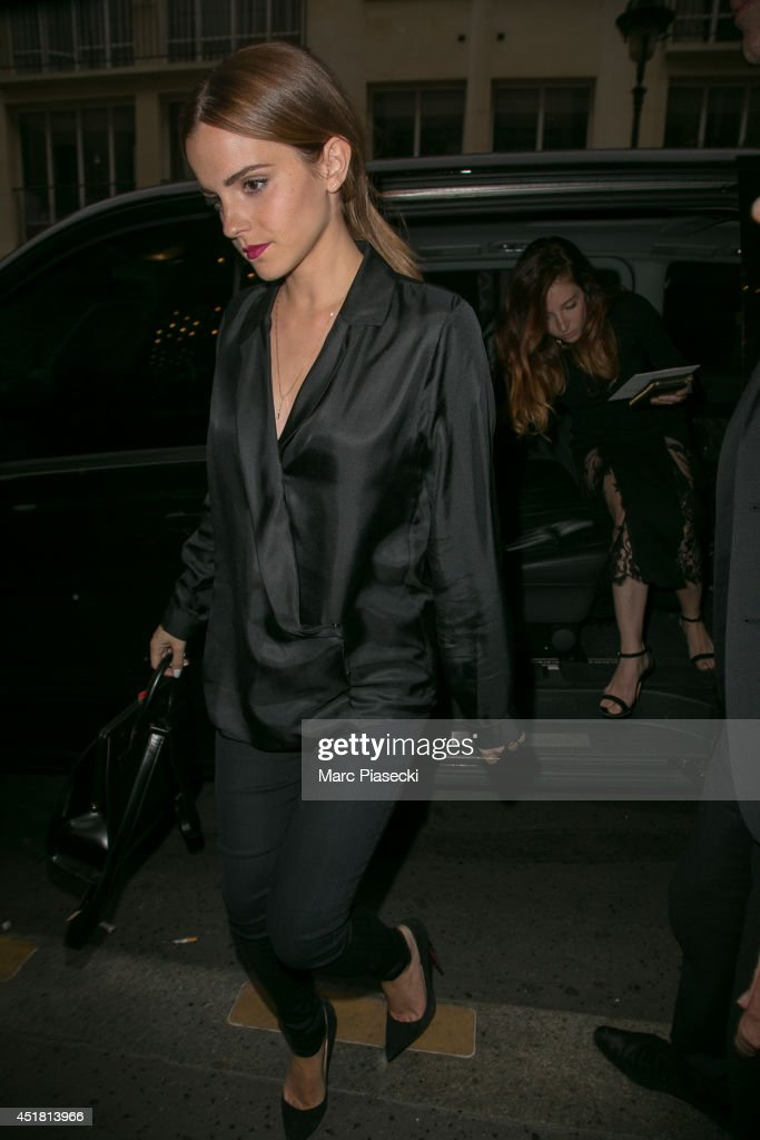 Actress <a gi-track='captionPersonalityLinkClicked' href=/galleries/search?phrase=Emma+Watson&family=editorial&specificpeople=171373 ng-click='$event.stopPropagation()'>Emma Watson</a> is seen on July 7, 2014 in Paris, France.