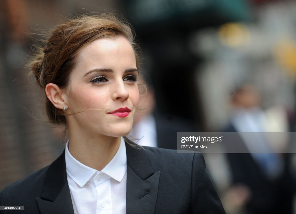 Actress Emma Watson is seen on March 25, 2014 in New York City.