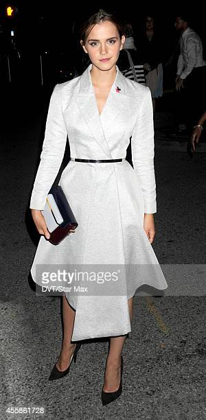 Actress Emma Watson is seen on September 20 2014 in New York City