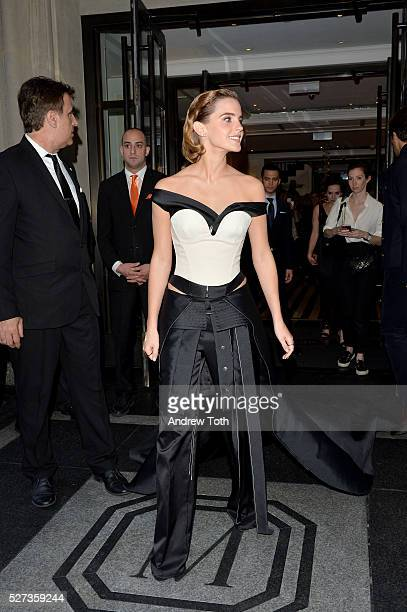 Actress Emma Watson leaves from The Mark Hotel for the 2016 'Manus x Machina Fashion in an Age of Technology' Met Gala on May 2 2016 in New York City