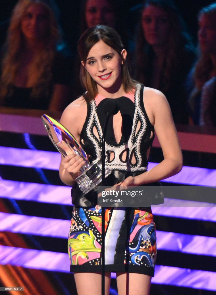 Actress Emma Watson onstage during the 2013 People's Choice Awards at Nokia Theatre L.A. Live on January 9, 2013 in Los Angeles, California.