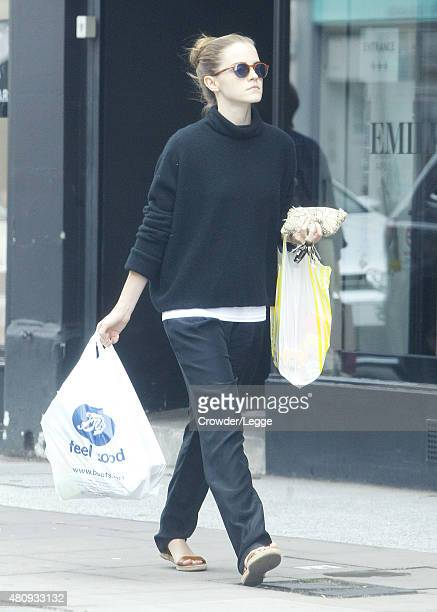 Actress Emma Watson pictured out shopping on July 15 2015 in London England