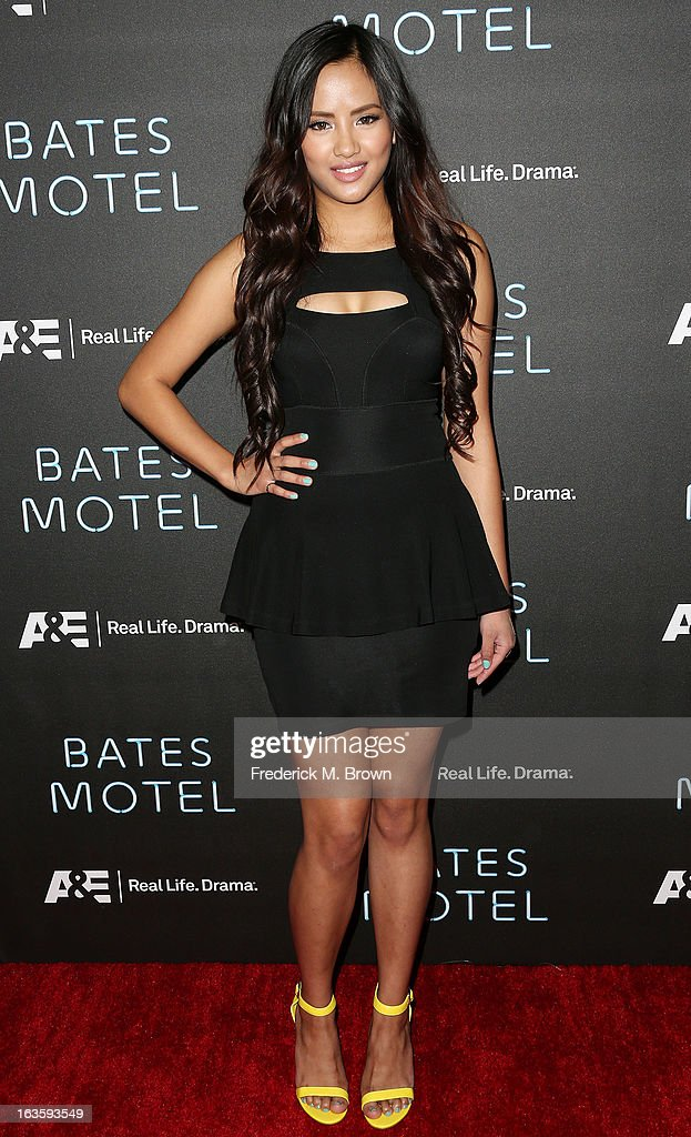 Actress Emmalyn Estrada attends the Premiere of A&E Network's 'Bates Motel' at the Soho House West Hollywood, on March 12, 2013 in West Hollywood, California.